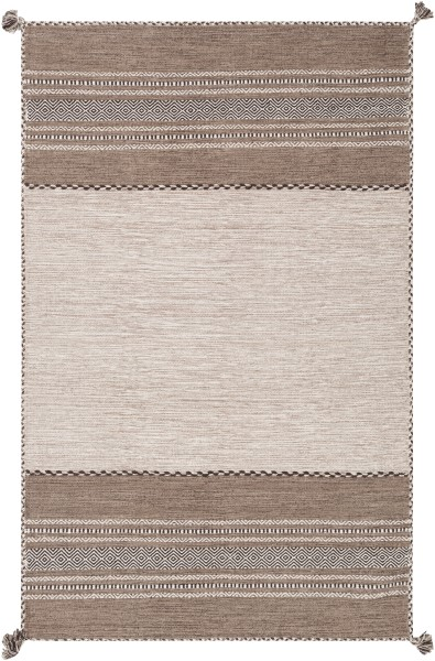 Taupe, Light Gray, Black (TRZ-3001) Moroccan Area Rug