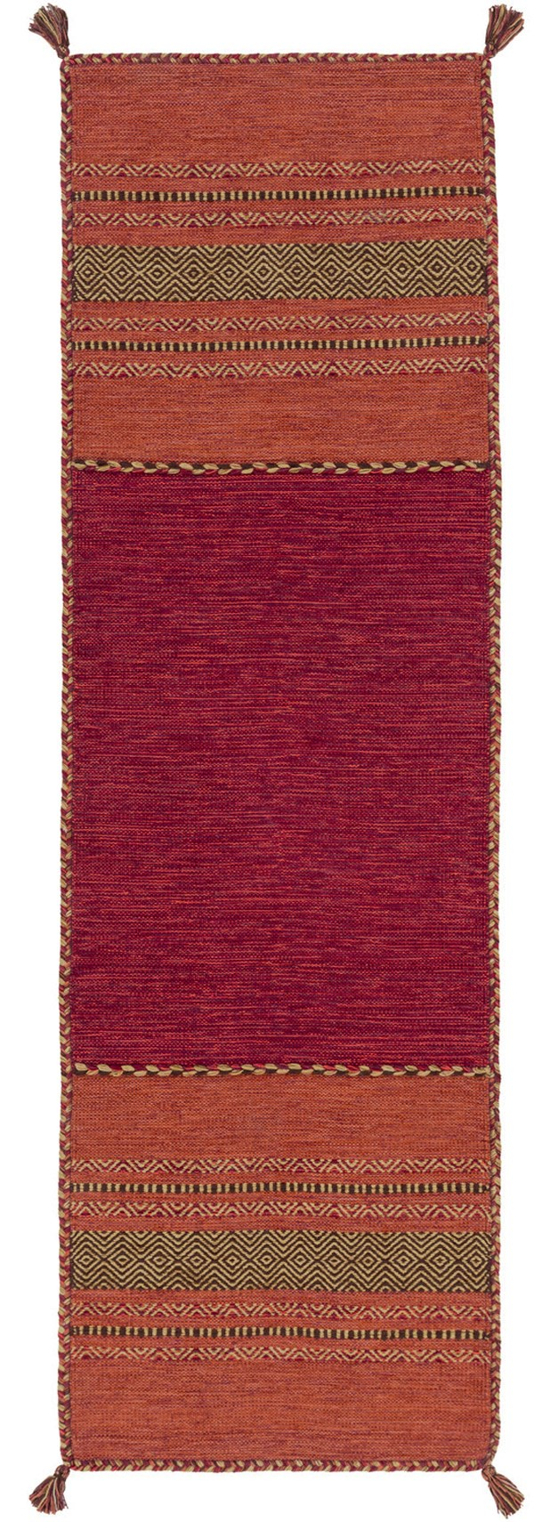 Rust, Chocolate, Cherry, Gold (TRZ-3002) Southwestern / Lodge Area Rug