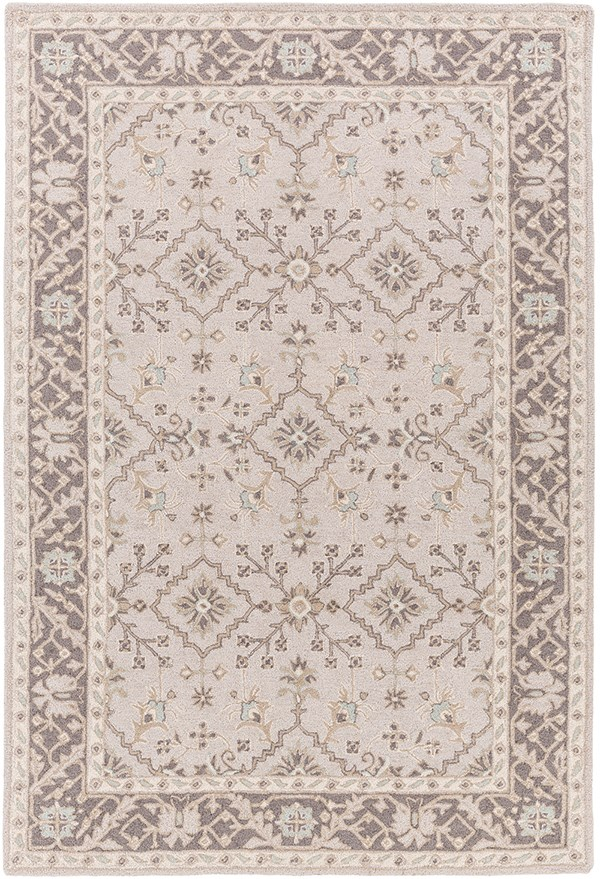 Taupe, Charcoal, Ivory, Camel Traditional / Oriental Area Rug
