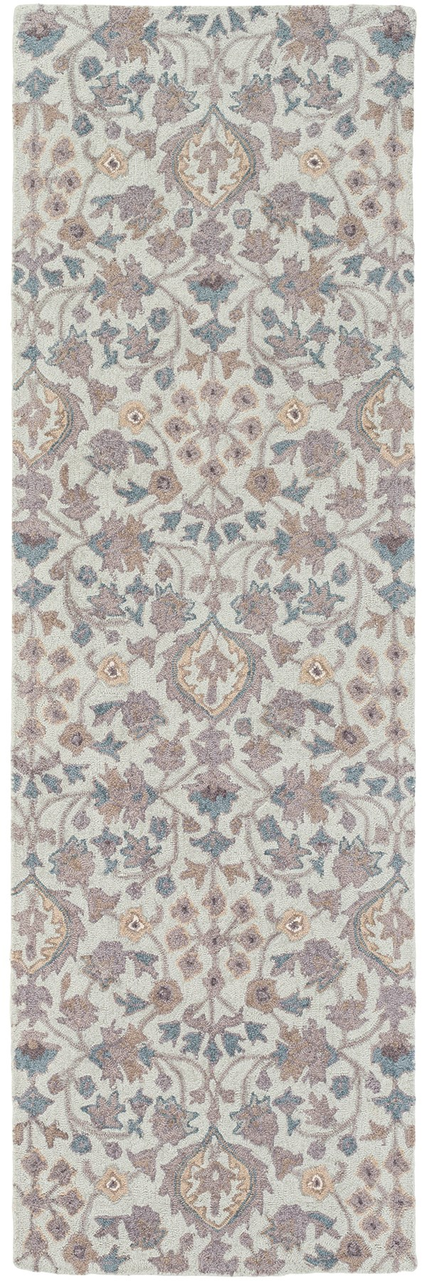 Medium Gray, Dark Blue, Light Gray, Taupe Traditional / Oriental Area Rug