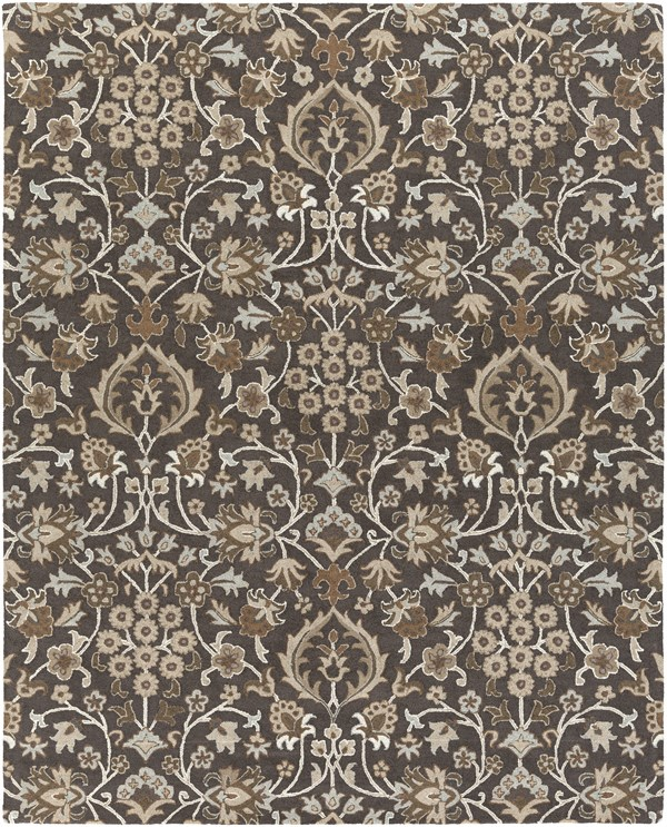 Black, Taupe, Camel, Dark Brown Traditional / Oriental Area Rug