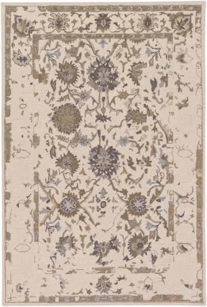 Khaki, Dark Brown, Denim, Medium Gray Vintage / Overdyed Area Rug