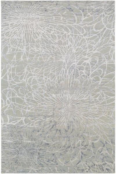 Sea Foam, Light Gray Contemporary / Modern Area Rug