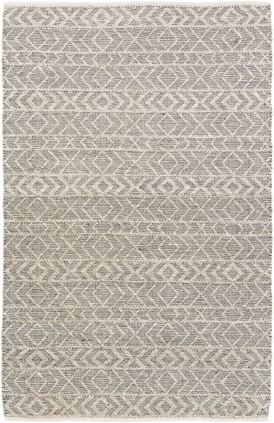 Black, Ivory, Taupe (ING-2000) Moroccan Area Rug