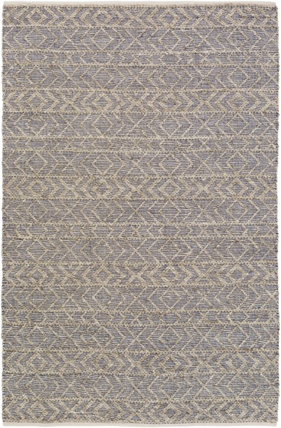 Dark Blue, Ivory, Taupe (ING-2003) Casual Area Rug