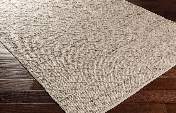 White, Ivory, Taupe (ING-2004) Casual Area Rug