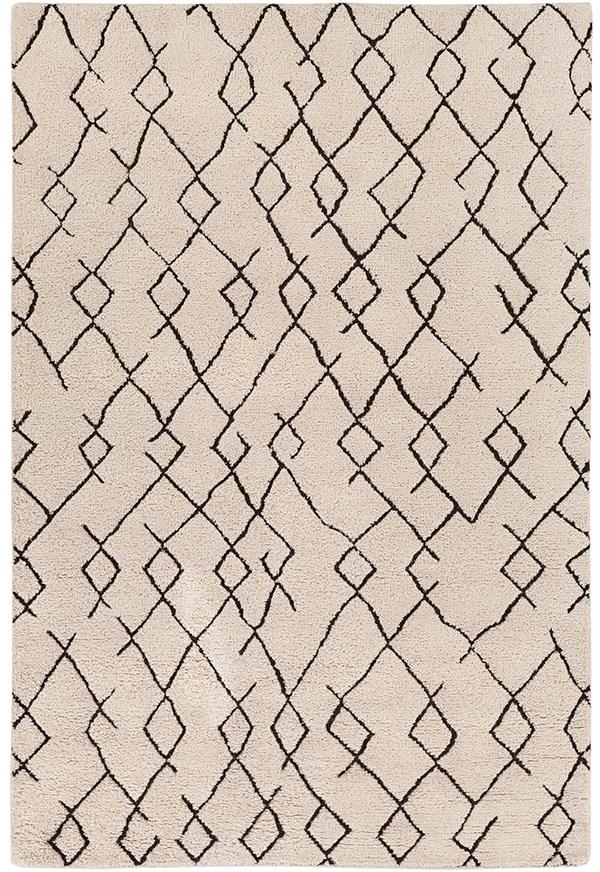 White, Black (JAV-1001) Transitional Area Rug
