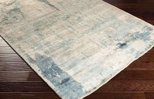 Light Gray, Charcoal, Sage Rustic / Farmhouse Area Rug