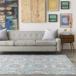 Product Image of Teal, Medium Gray, Black, Beige Transitional Area Rug