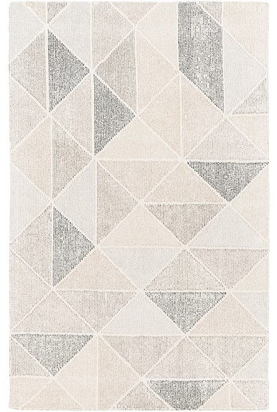 Black, Charcoal, Medium Grey Contemporary / Modern Area Rug