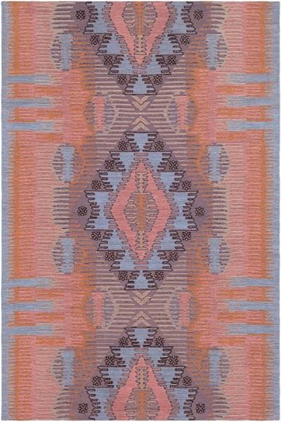 Blush, Peach, Denim, Bright Orange (SAJ-1069)  Area Rug