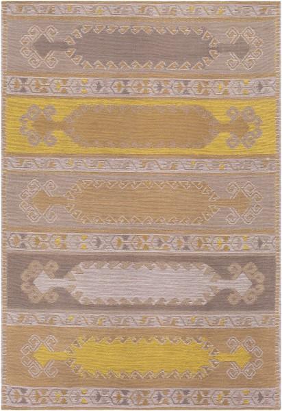 Light Grey, Ivory, Mustard, Yellow (SAJ-1080) Outdoor / Indoor Area Rug