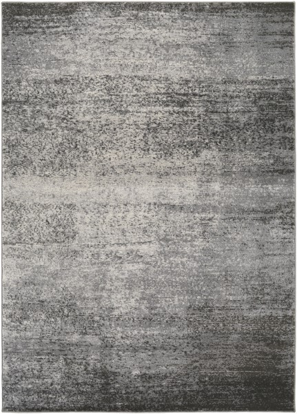 Light Grey, Medium Grey, Dark Brown, White Transitional Area Rug