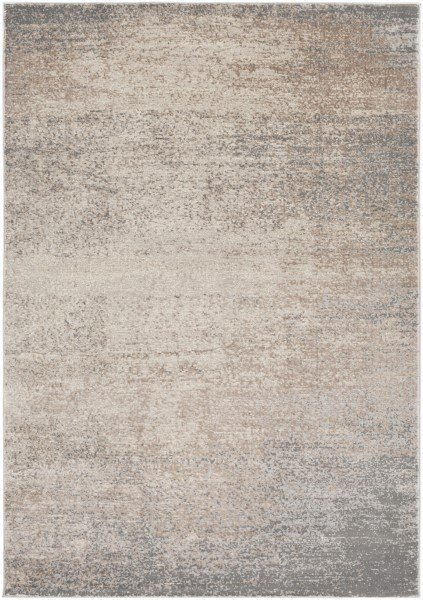 Taupe, Dark Brown, Cream, Ivory Transitional Area Rug