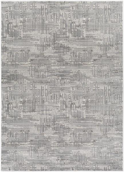 Medium Gray, Dark Brown, Light Gray, Cream Transitional Area Rug