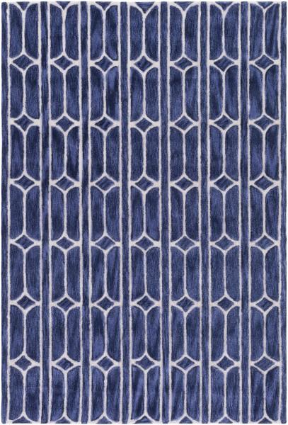 Navy, Denim, Khaki Contemporary / Modern Area Rug