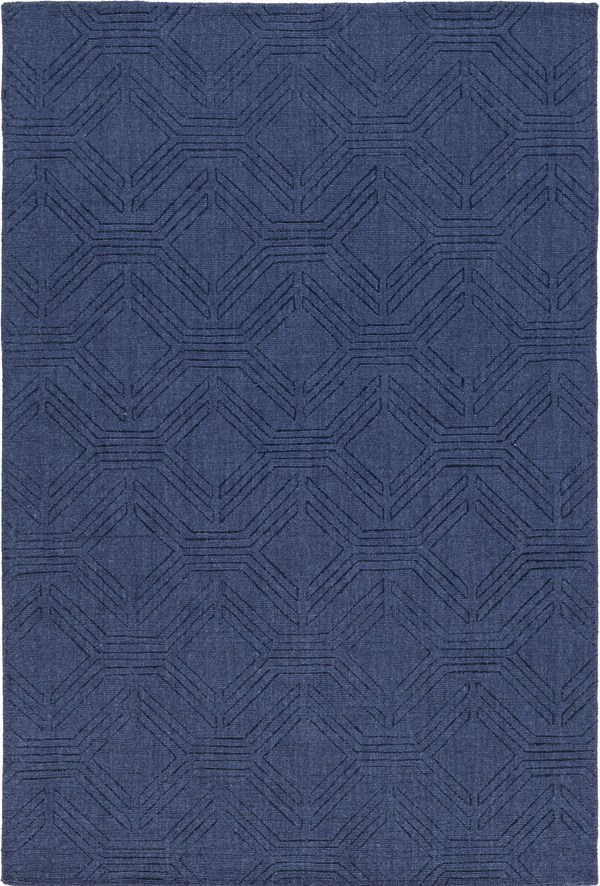 Navy (ASL-1009) Textured Solid Area Rug
