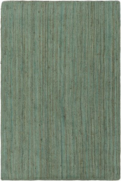 Mint, Dark Brown, White (BIC-7000) Casual Area Rug