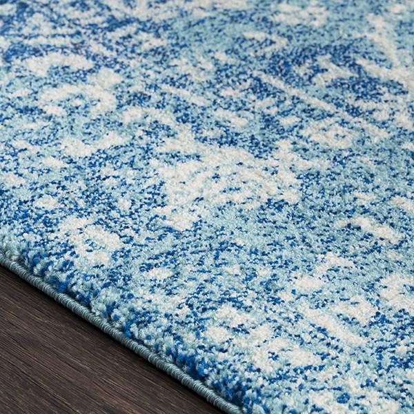 Beige, Dark Blue, Teal Vintage / Overdyed Area Rug