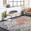 Product Image of Light Gray, Orange, Red Bohemian Area Rug