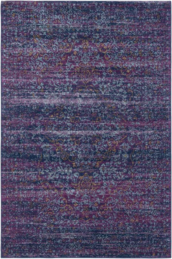 Dark Blue, Garnet, Burnt Orange Bohemian Area Rug