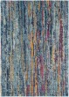 Product Image of Teal, Dark Blue, Burnt Orange Contemporary / Modern Area Rug