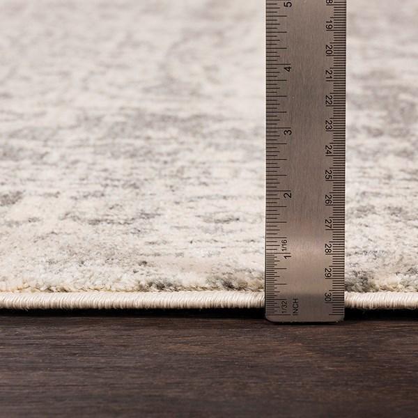Light Gray, Beige, Black Vintage / Overdyed Area Rug