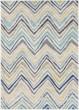 Product Image of Light Gray, Yellow, Dark Blue Chevron Area Rug