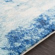 Product Image of Teal, Dark Blue, Black Abstract Area Rug