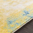 Product Image of Saffron, Teal, Dark Blue Abstract Area Rug
