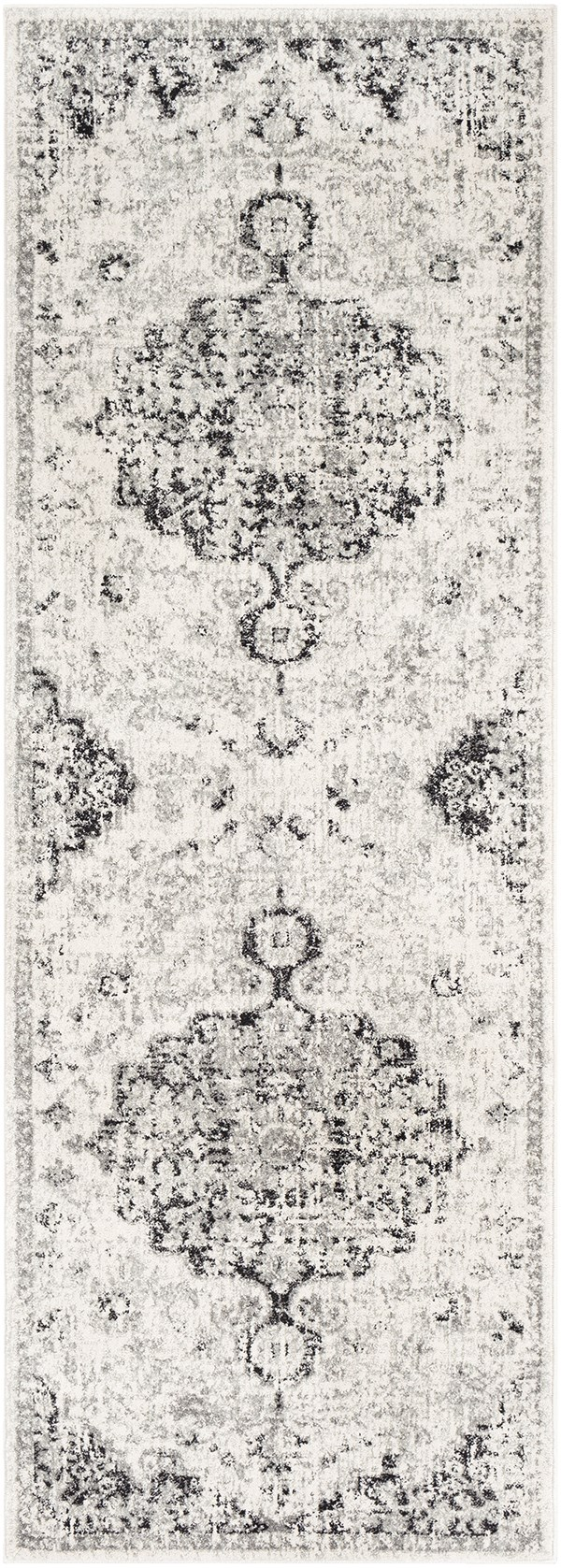 Beige, Light Gray, Charcoal Vintage / Overdyed Area Rug
