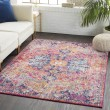 Product Image of White, Saffron, Teal Bohemian Area Rug