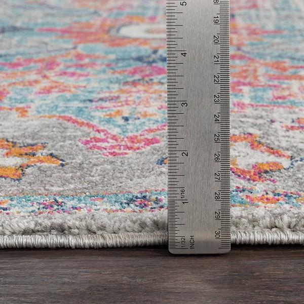 Beige, Saffron, Light Gray Vintage / Overdyed Area Rug