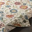 Product Image of Orange, Blue, Cream Floral / Botanical Area Rug