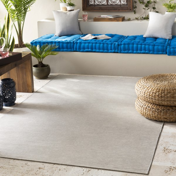 Taupe, Light Gray, White (EVR-1006) Outdoor / Indoor Area Rug