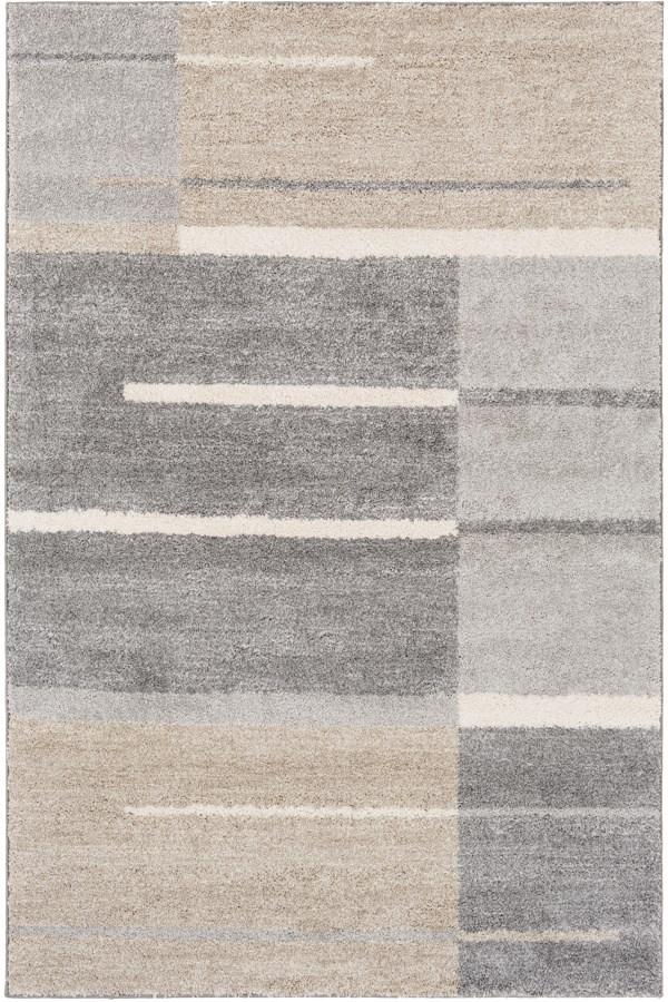 Medium Gray, Taupe, Light Gray, Ivory Transitional Area Rug