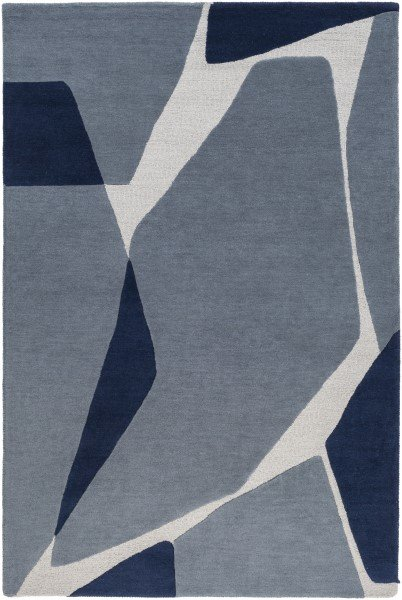 Dark Blue, Navy, Light Grey (KDY-3017) Contemporary / Modern Area Rug