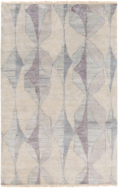 Cream, Medium Gray, Teal, Moss, Light Gray, Aqua Contemporary / Modern Area Rug