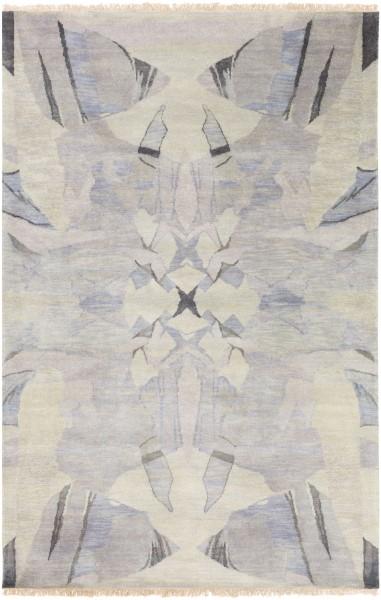 White, Gray, Moss, Lilac, Dark Brown Contemporary / Modern Area Rug