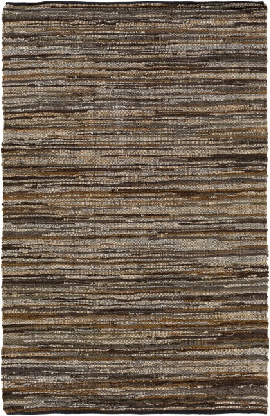 Dark Brown, Camel, Light Gray, Khaki (LGC-1000) Country Area Rug
