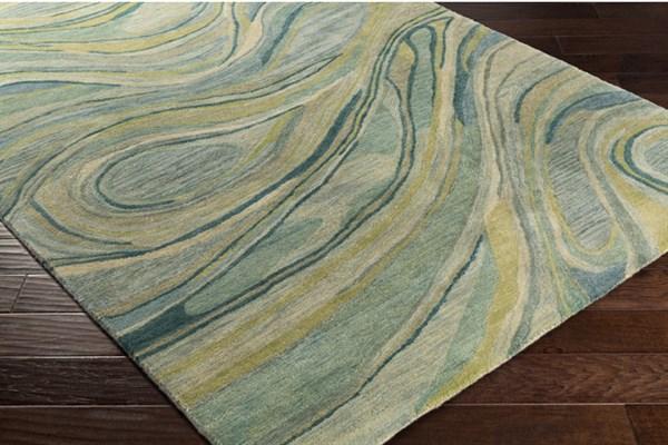 Sea Foam, Cream, Sage, Mint, Lime, Emerald Contemporary / Modern Area Rug
