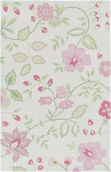 Rose, Pink, Mint, Grass Green, Ivory (SDD-4000) Floral / Botanical Area Rug