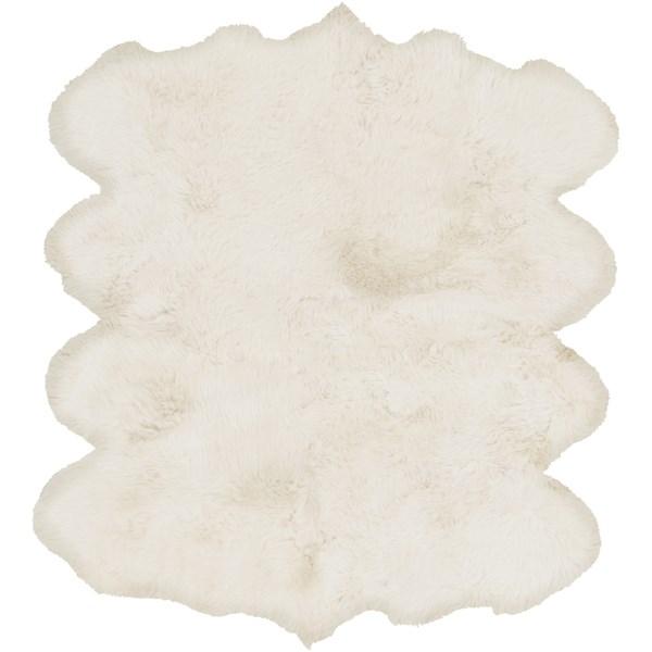 White (SHS-9600) Animals / Animal Skins Area Rug