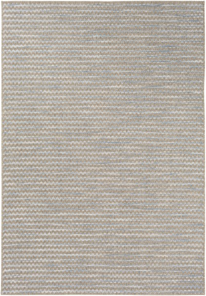 Sky Blue, Pale Blue, Taupe, Cream (STZ-6009) Outdoor / Indoor Area Rug