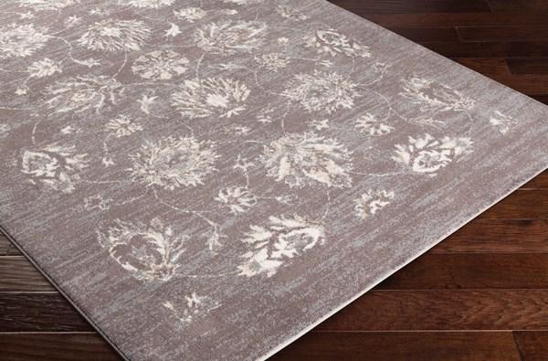 Taupe, Medium Gray, Cream Traditional / Oriental Area Rug