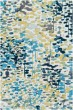 Product Image of Sky Blue, Mustard, Sage, White Contemporary / Modern Area Rug