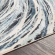 Product Image of Blue, Grey, Cream Contemporary / Modern Area Rug