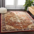 Product Image of Orange, Dark Red, Yellow Traditional / Oriental Area Rug