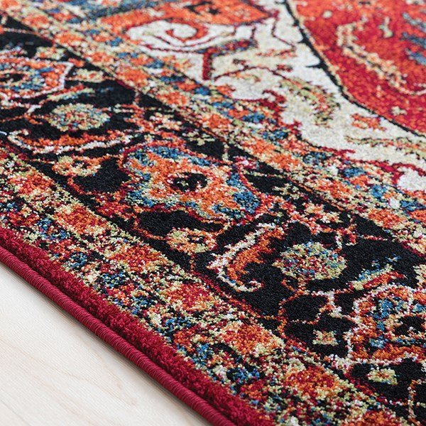 Red, Black, Blue Traditional / Oriental Area Rug