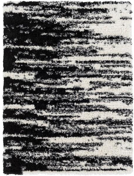 Black, White Shag Area Rug